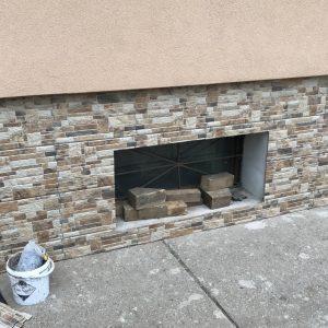 Kertes ház hőszigetelet lábazatának burkolása
