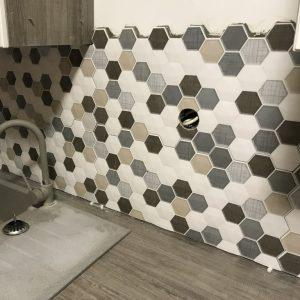 Hexagon burkolat