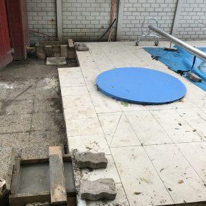 XVII. kerületi úszómedence fedés sínhosszabbítása