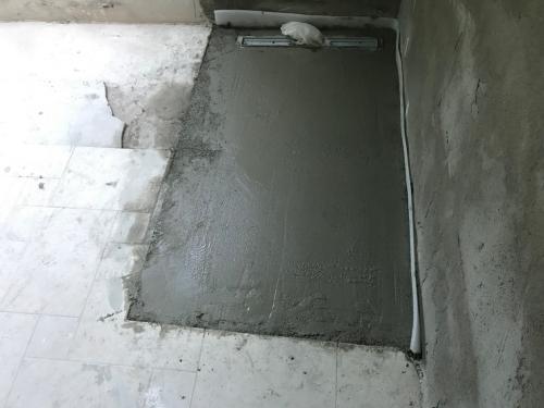 Zuhanyzó betonozása