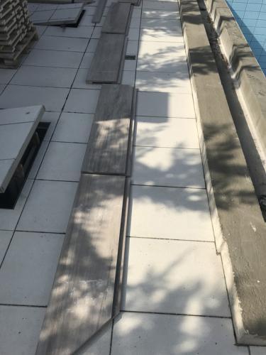Szegélykő - 2 cm-es, egyedi, ragasztott greslap