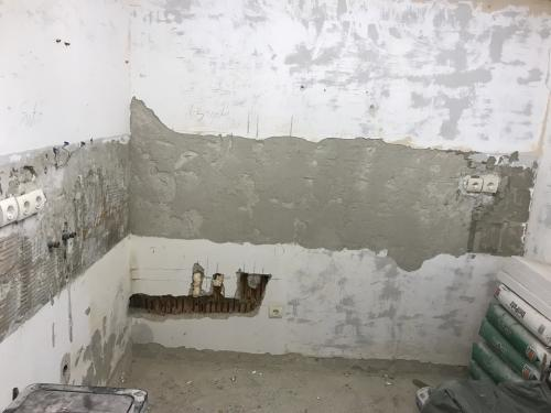 Eltávolított konyhafal burkolat