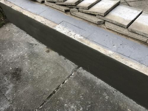 Lábazat betonjavítása betonjavító habarccsal