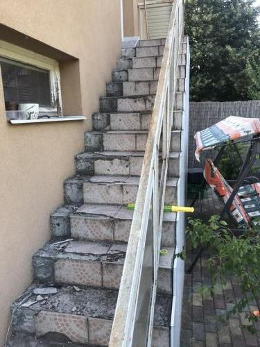 Javítandó lépcsőburkolat